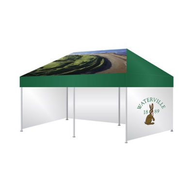Image of 6 X 3M Marquee (Roof, Valance & 3 Walls)